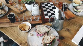Pulled Pork Sandwhich Table Makers Brew Barrydale